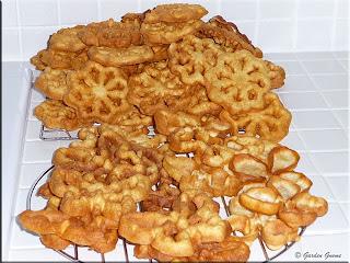 cooling Scandinavian rosette cookies