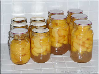 canned red haven peaches