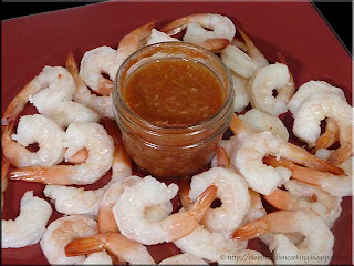 shrimp cocktail with homemade seafood cocktail sauce