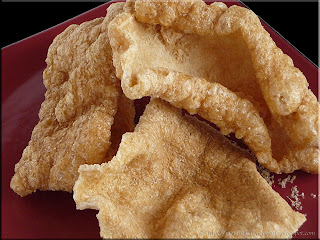 chicharrones (pork skins)