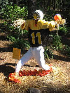 Image result for scarecrow football player pics