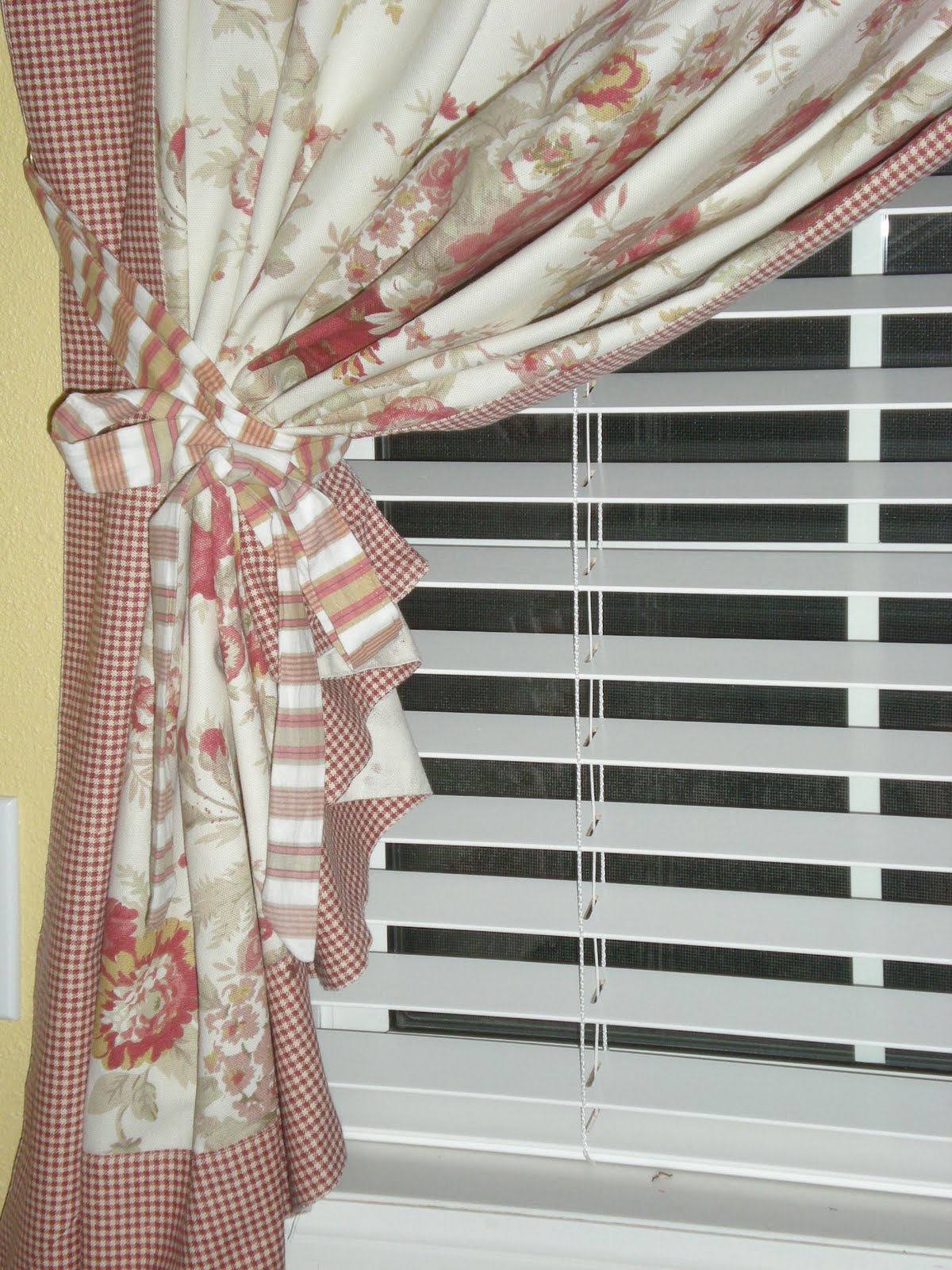French country curtains waverly - Waverly Tablecloth Transformation French Country Curtains