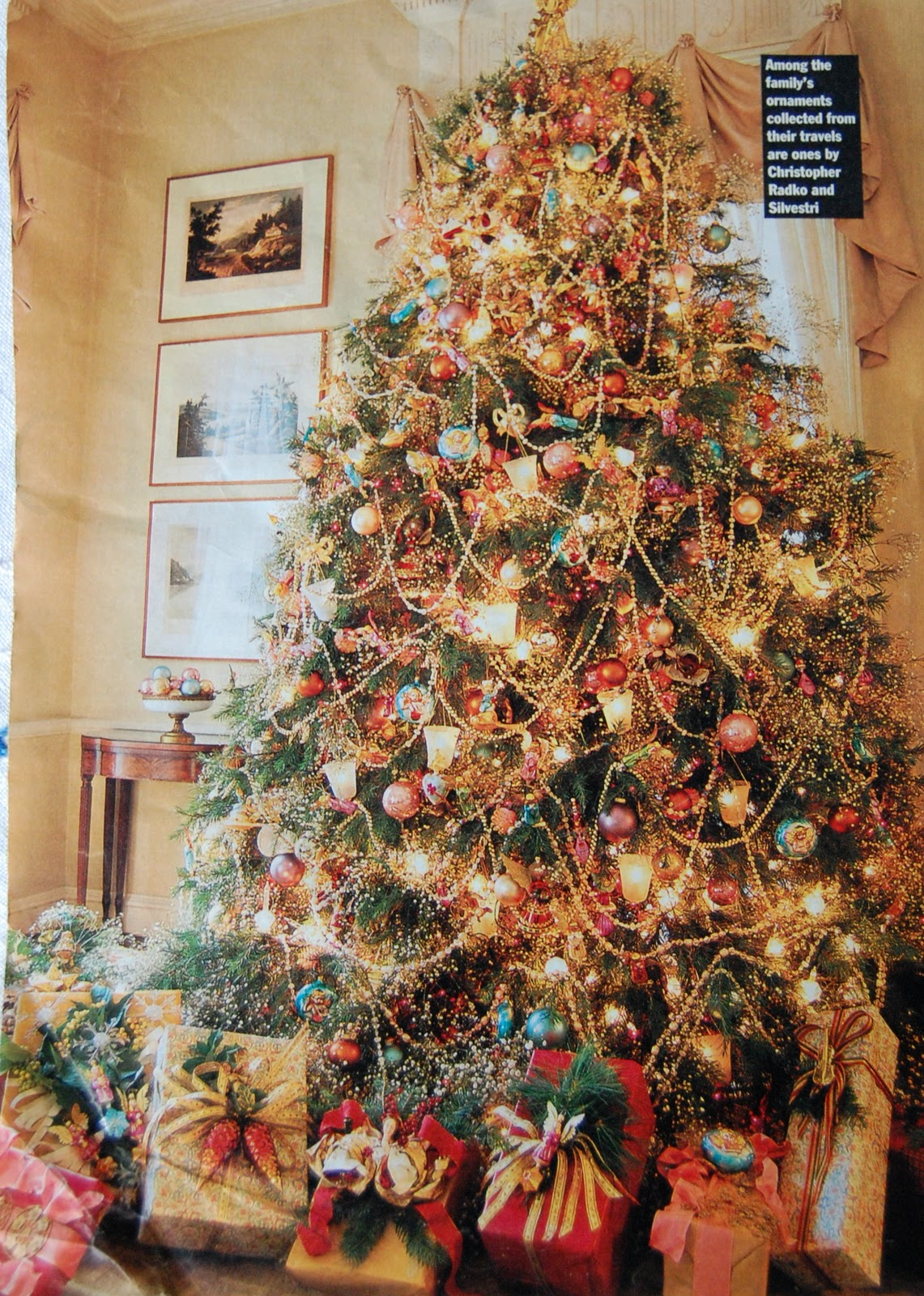 Christmas Trees Decorated Professionally With Presents