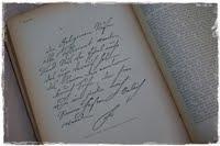 Schreib doch mal in mein Gästebuch.
