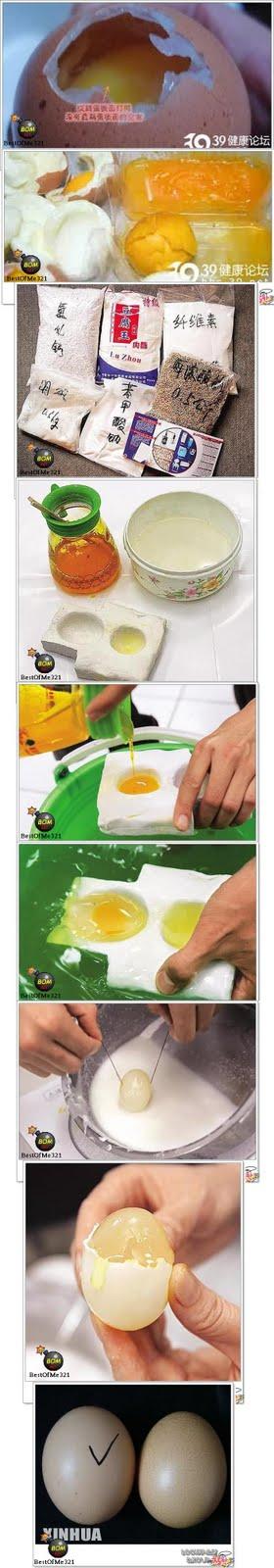 telur ayam tiruan