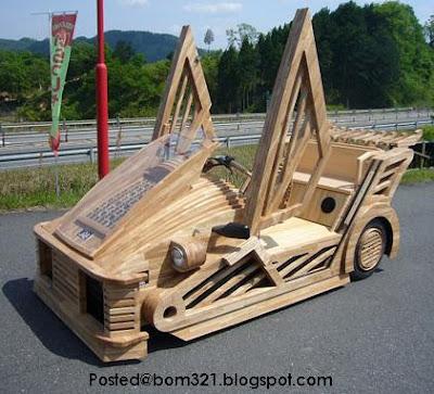 kenderaan dari kayu