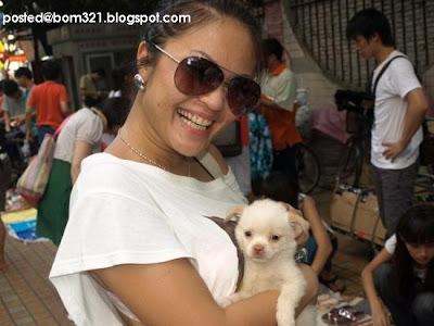 Baby Res2 pegang anjing