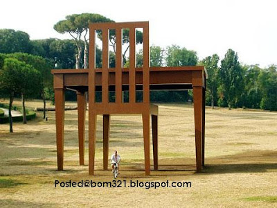 largest chair and table