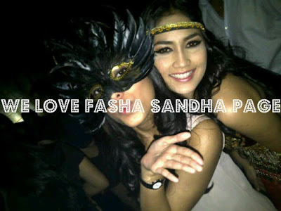 Gambar Fasha Sandha Di Parti Halloween