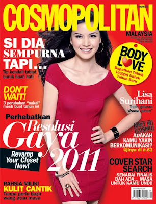 Gambar Lisa Surihani Covergirl Majalah Cosmopolitan Edisi Pembuka 2011 !