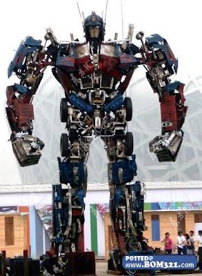 Optimus Prime Dari Barangan Kitar Semula | Optimus prime from recycle