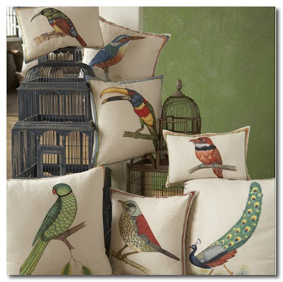 birds of india pillows by John Robshaw