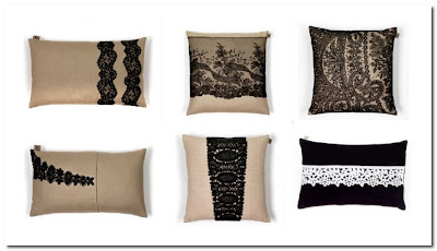 kelly hoppen vintage lace cushions