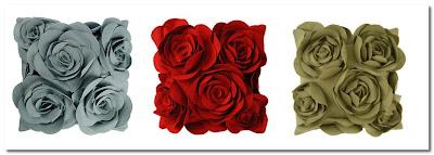 Felt Rose Cushions at John Lewis