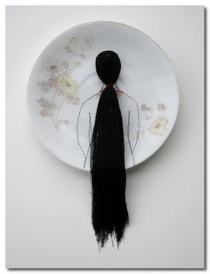 Hair Porcelain plate by diem chau