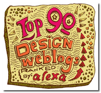 Alexa's Top 90 Design Weblogs