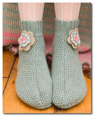 knitted slippers by nicky thomson