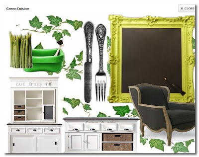 ghost furniture moodboard at mydeco