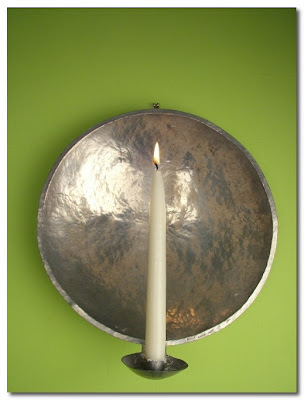 reflective candle sconces