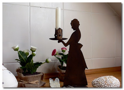 silhouette candle holder retro deco