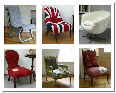 melanie porter knitted chairs