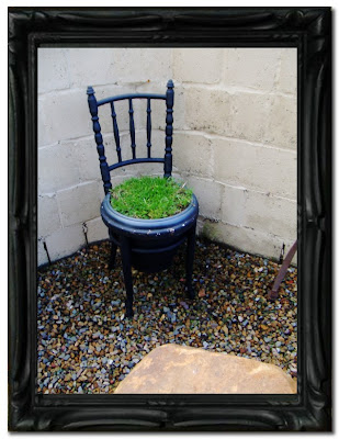 chair with grass