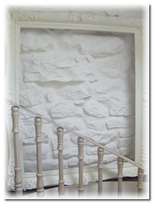 white vintage frame on white wall