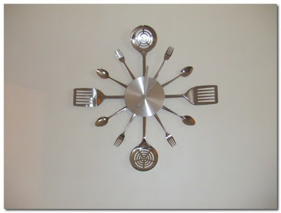kitchen utensil clock paris