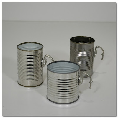 tin cans with vintage handles