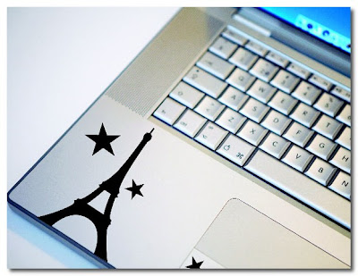 eiffel tower computer decals