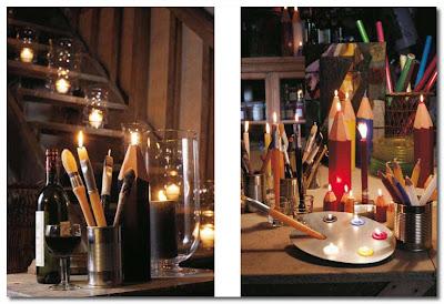 candles by Point a la Ligne