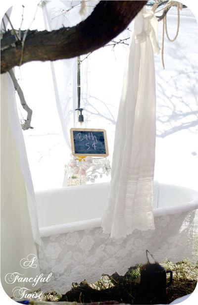 bath in a garden