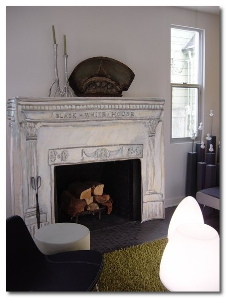 louis fireplace slipcover