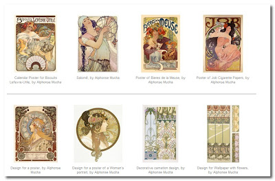 alphonse mucha prints at the v&a