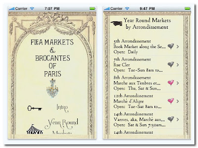 paris apartment app for iphone flea markets of paris