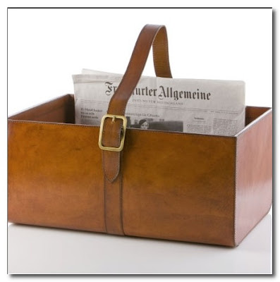 leather magazine holder