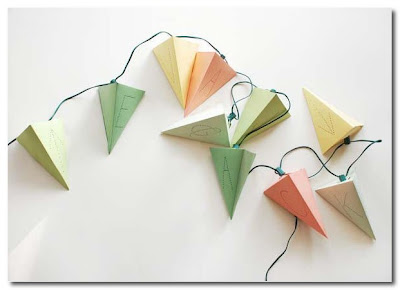 Lighted Paper Pendants