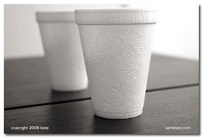 art on a styrofoam cup