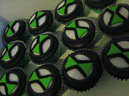 Ben10 Omnitrix Cupcakes.