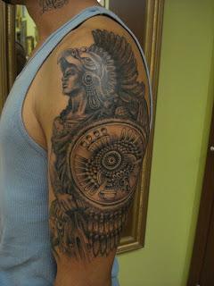 aztec tattoos, tattooing