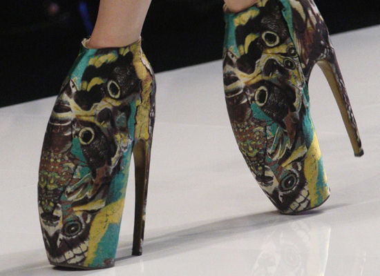 and 12 inch heels. Lady gaga not only provided music for Mr. McQueen,
