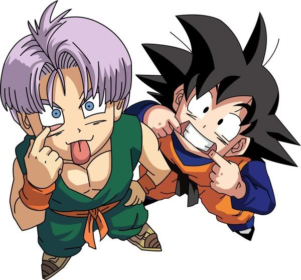Yeah, well anyways, me and Simon would always be Goten and Trunks from the ...