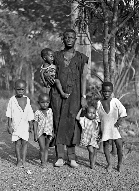Pa Conteh with children - Kenema