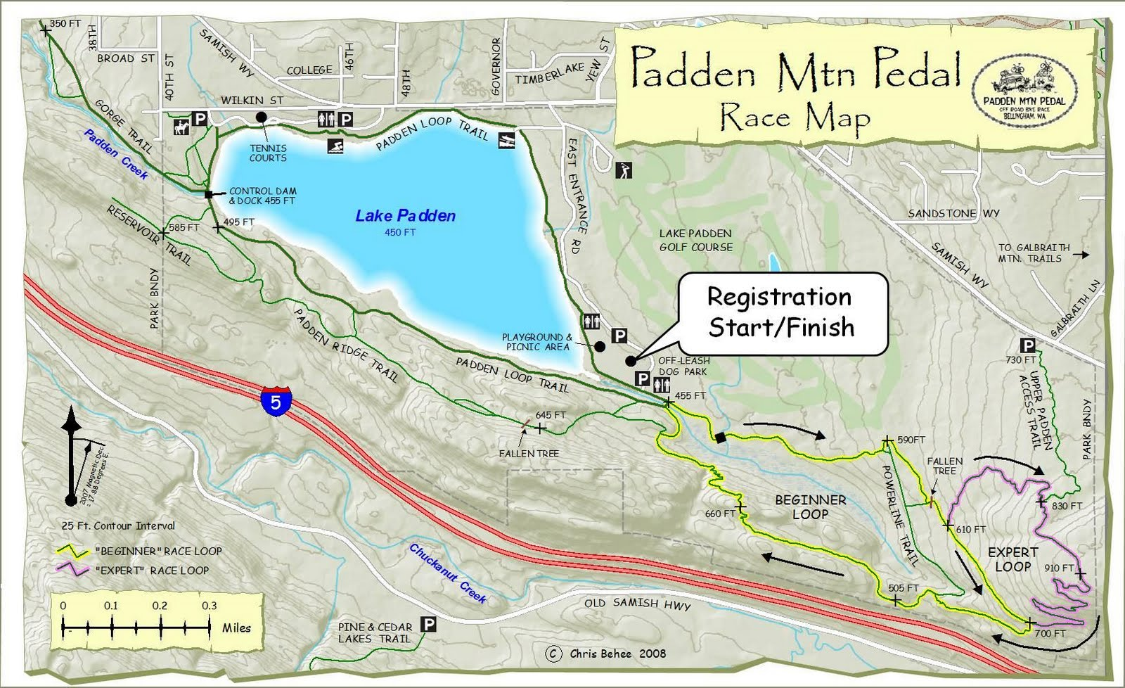 padden mtn pedal course map