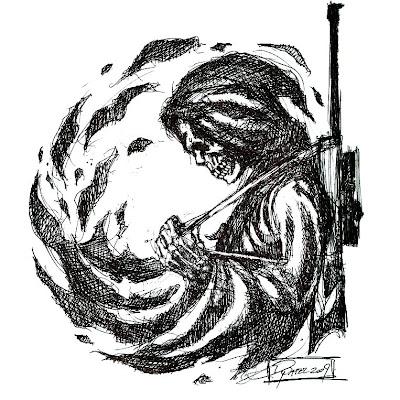 The Grim Reaper Sniper Tattoo