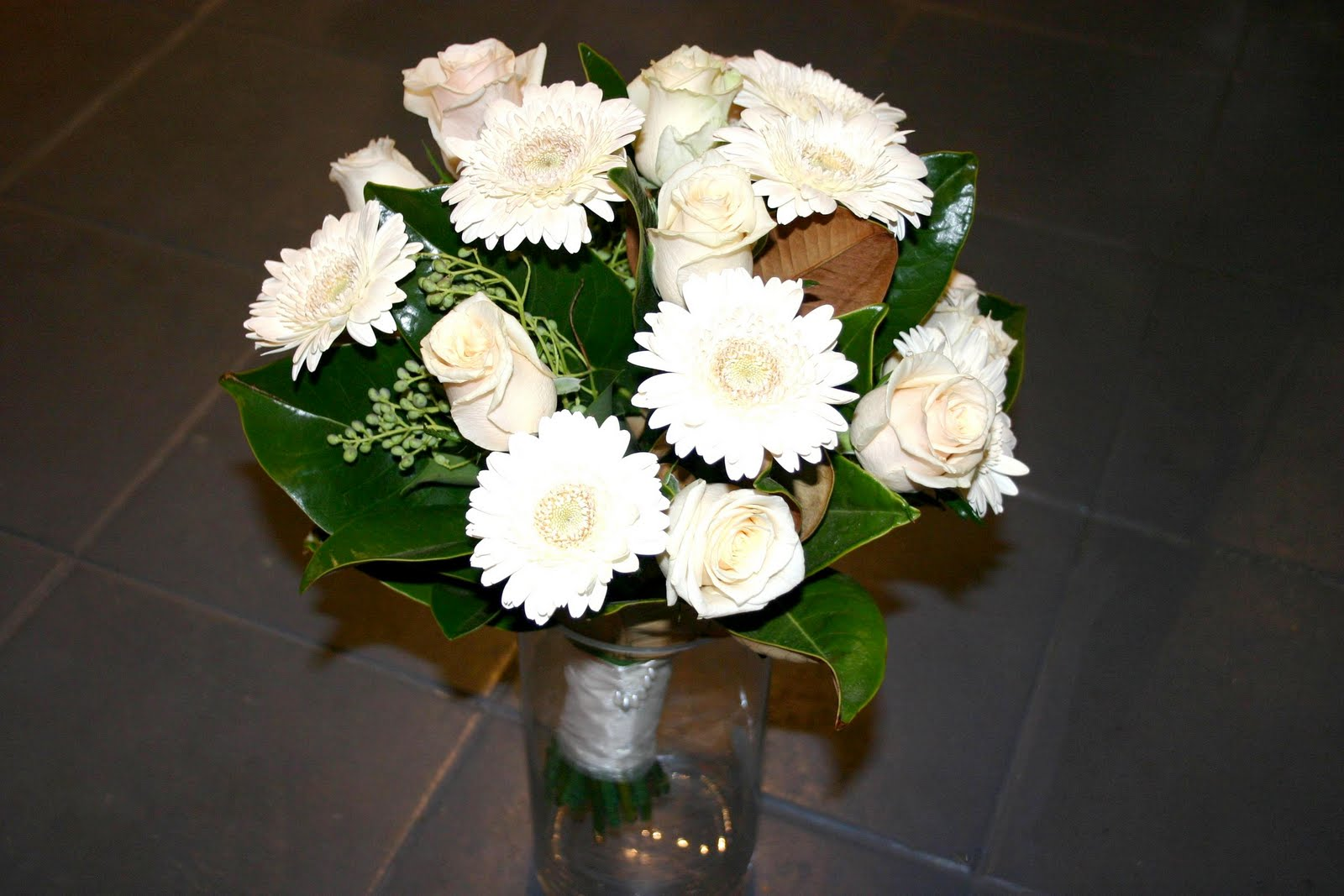 Ivory Gerbera Bouquet Melbourne Wedding Flowers