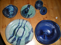 Blue Green Dinner setting for 6