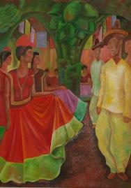 Rivera en Fiesta Tehuana