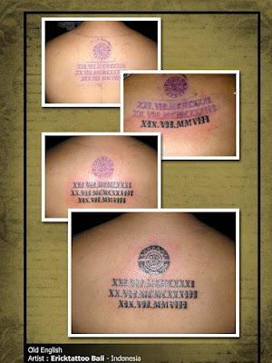 Old English tattoo lettering is eye-catching and makes a cool statement,