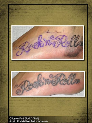 Mexican Tattoo Art Letters